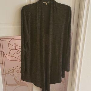 Women's Express Long Sleeve Sweater Olive Green L